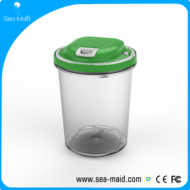 Sea-maid  Automatic Vacuum Seal Container (1L,1.5L, 2L , Clear)