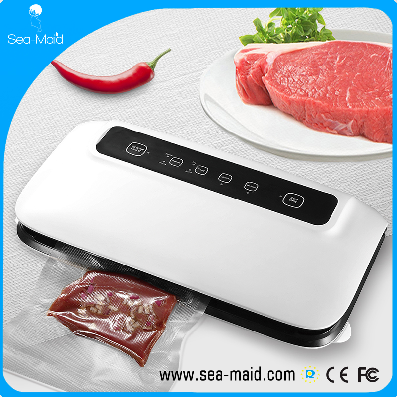 Sea-Maid New Muti-function industrial grade vacuum sealer GN1108 big motor -0.8kpa with rolls storage