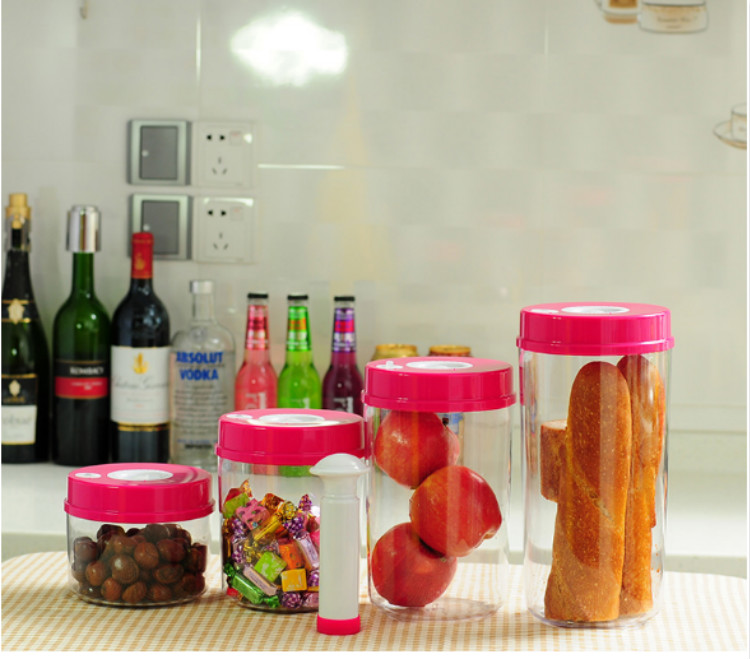 Best Kitchenware-Vacuum Plastic Canister vacuum seal air tight storage food savers food storage containers